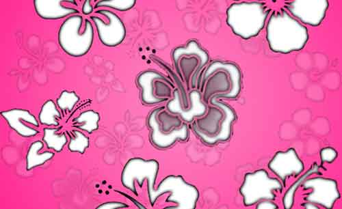 Hibiscus Clip Art Photoshop Brushes for Summer Designs