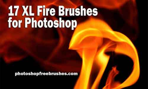 Fire Background: 30 Realistic Brushes for Photoshop