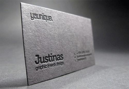 Black Business Card Designs 27 Letterpress Printed Cards