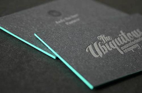 black business card - Matte Black Business Cards