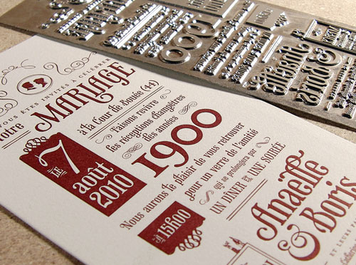Wedding Invitation Cards 20 Examples Of Letterpress Cards