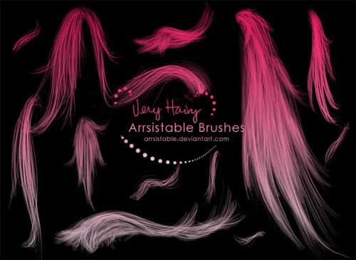 photoshop cs2 hair brushes free download