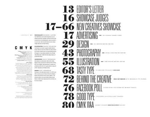 table of contents design 30 excellent examples from around the web