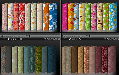 Flower Patterns and Swirls Backgrounds for Designing in Photoshop