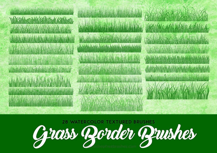 Grass Brushes for Photoshop: 26 Fresh Sets To Download