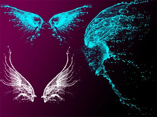 wings clip art brushes 400 brushes for fantasy designs