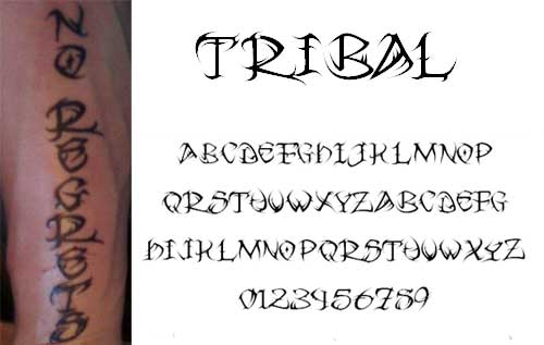 Free Tattoo Fonts With Tribal Designs to Boost Your Font
