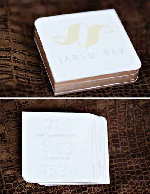 Square business cards 33 modern mini card design examples square business cards reheart Image collections