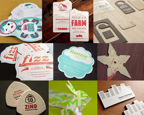 die cut business card - Custom Shaped Business Cards