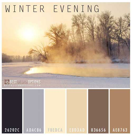 Winter Paint Colors: Winter Colors: 9 Palettes For Web And Print Designs