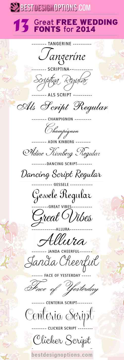 Wedding Font 13 Elegant And Romantic Types To Download Free