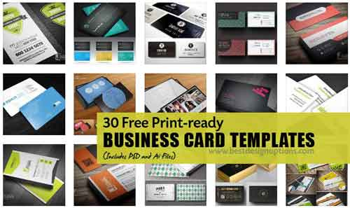 Free business card template designs 30 psd vector files free business card template flashek