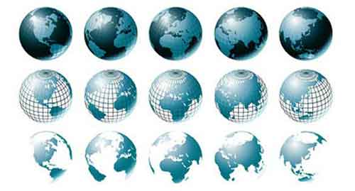 vector globe graphics: 30 free sets for creating modern designs