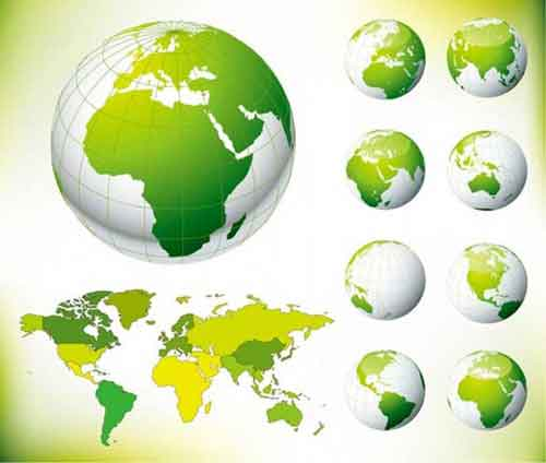 Vector globe graphics 30 free sets for creating modern designs vector globe gumiabroncs Image collections