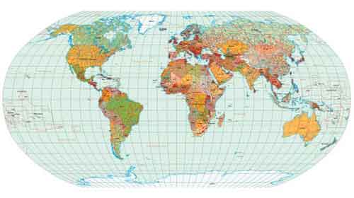 World Map With Labels Of Countries.Vector World Map Files For Free Download