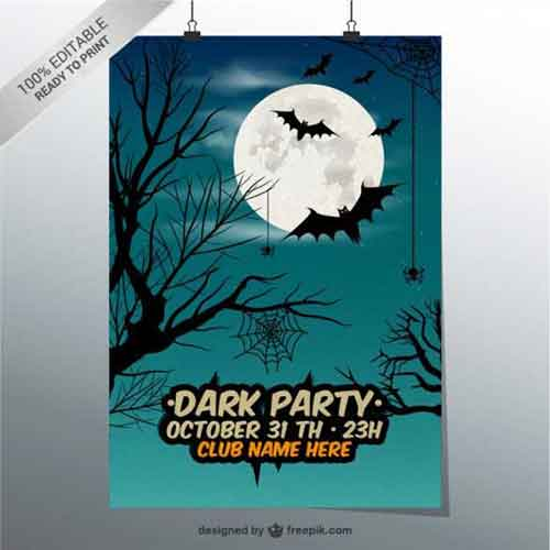 14 Dark Party Poster Template