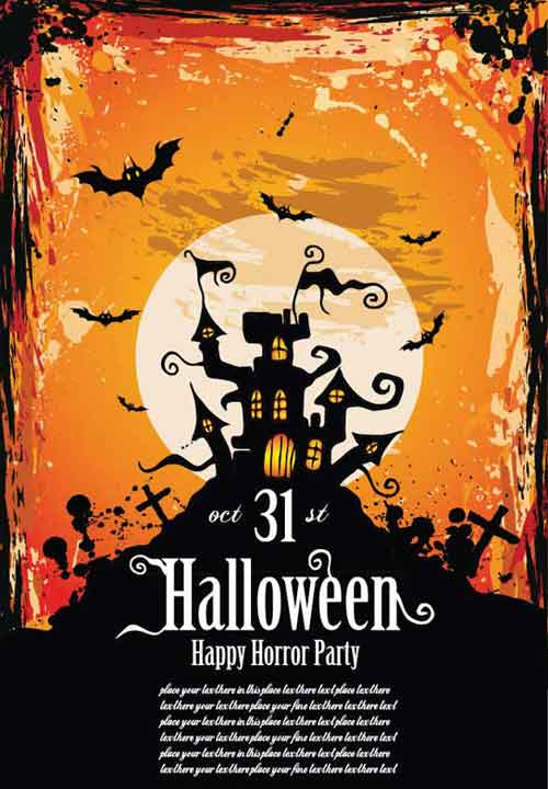 Halloween Poster Background Free.Halloween Poster Templates 25 Editable Vector Files To Collect