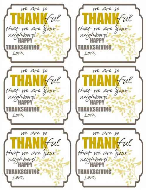 picture about Free Printable Thanksgiving Tags known as Thanksgiving Printables: 31 Absolutely free Sets of Drop-Themed Strategies