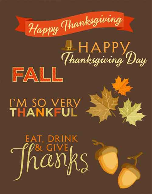 picture regarding Printable Thanksgiving Banners identified as Thanksgiving Printables: 31 Cost-free Sets of Slide-Themed Types