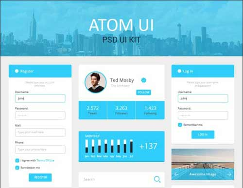 Flat UI (User Interface) Kits for Your Next Web Design Projects