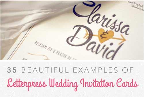 Wedding Invitation Examples 25 Letterpress Cards