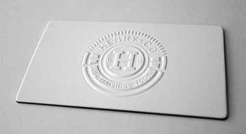 Clean business card designs 35 inkless examples clean business card colourmoves