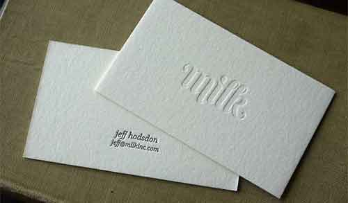 clean business card designs 35 inkless examples