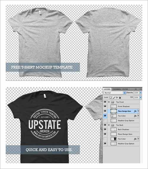 clothes mockup - Free T Shirt Mockup Template