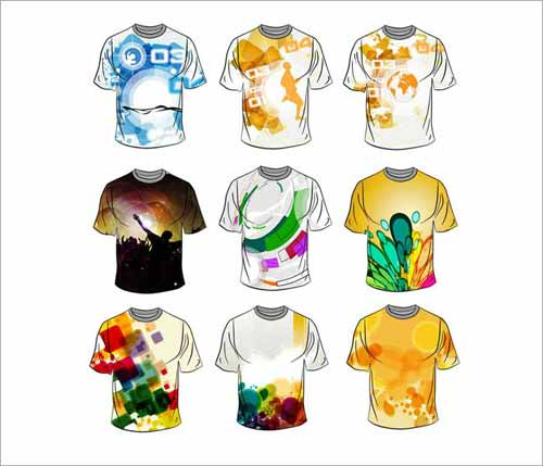 Tshirt Design Templates Sets Free Editable Vectors - Design a shirt template