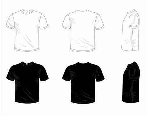 Tshirt Design Templates Sets Free Editable Vectors - T shirt artwork template