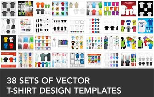 38 Sets Of Free Vector T Shirt Design Templates