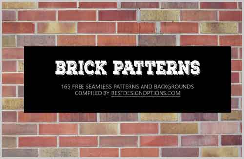 Brick Patterns: 165 Seamless Backgrounds for Your Desigsn