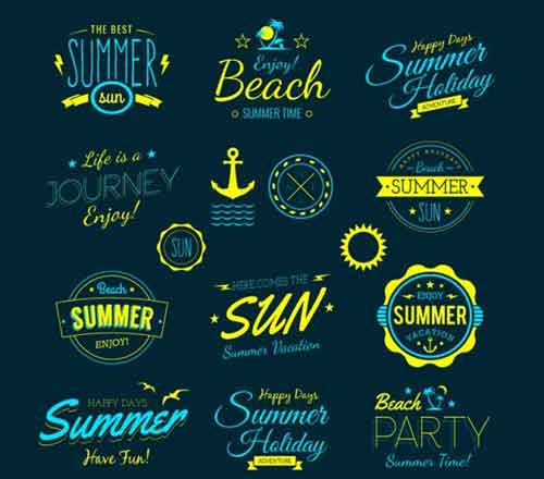 logo templates 200 editable free vector summer labels