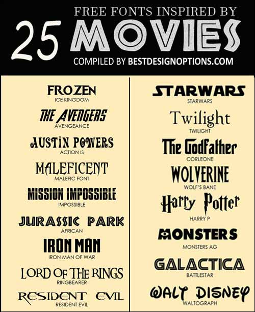 Movie Font: 25 Free Types for Making Captivating Film Posters