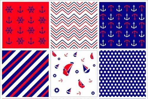 Nautical Background 90 Seamless Sailing And Beach Patterns