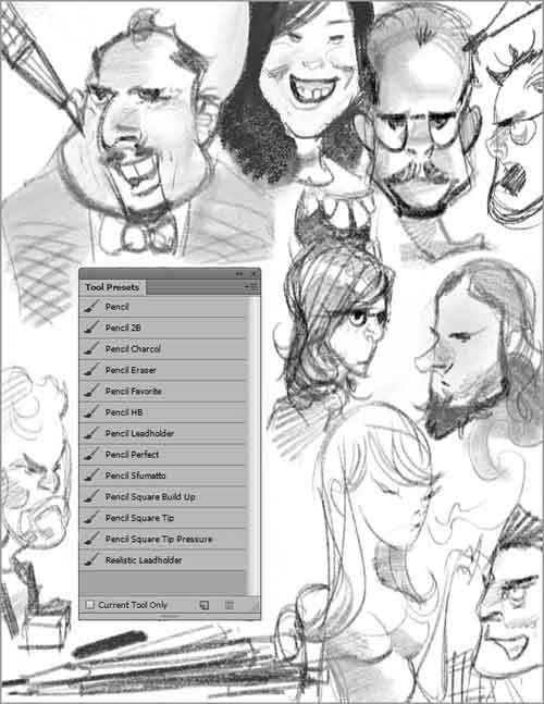 30 Free Photoshop Pencil Brush Sets For Hand-Drawn Effects