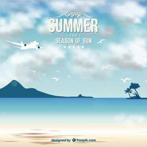 27 Tropical Beach Summer Poster Template