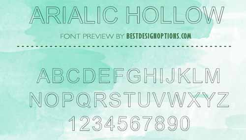 Outlined Font: 25 Free Hollow Typefaces to Download
