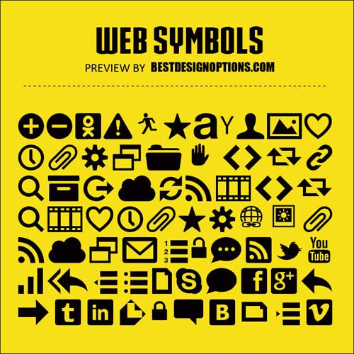 Symbol Fonts You Can Use As Icons In Your Designs