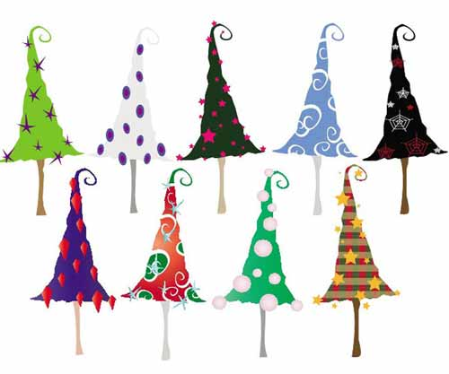 Christmas Tree Clip Art 30 Sets Of Free Vector Graphics
