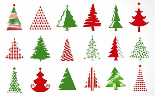 Christmas Tree Clip Art: 30 Sets Of Free Vector Graphics
