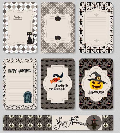 image regarding Free Printable Journal Cards named Halloween Playing cards: 7 No cost Printable Magazine Playing cards