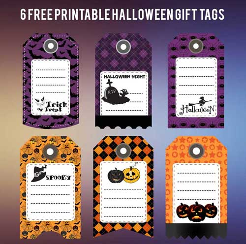 photo relating to Printable Halloween Tags named Halloween Present Tags: Cost-free Printables