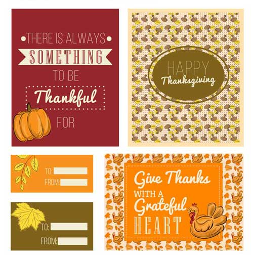 Thanksgiving Card Template Free from allfreedesigns.com