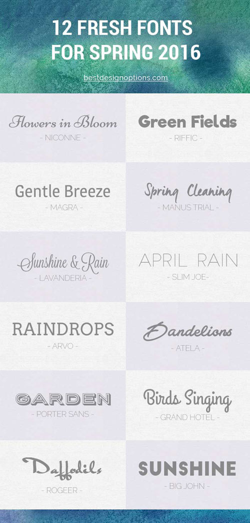 Spring Fonts: 12 Free Fresh Typefaces for Your Designs