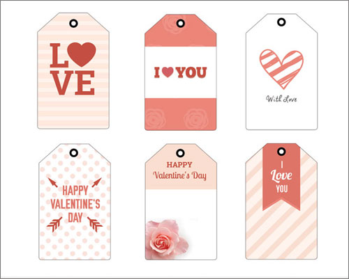 photo regarding Printable Valentine Tag identified as Printable Valentine Card Plans and Present Tags in just Red