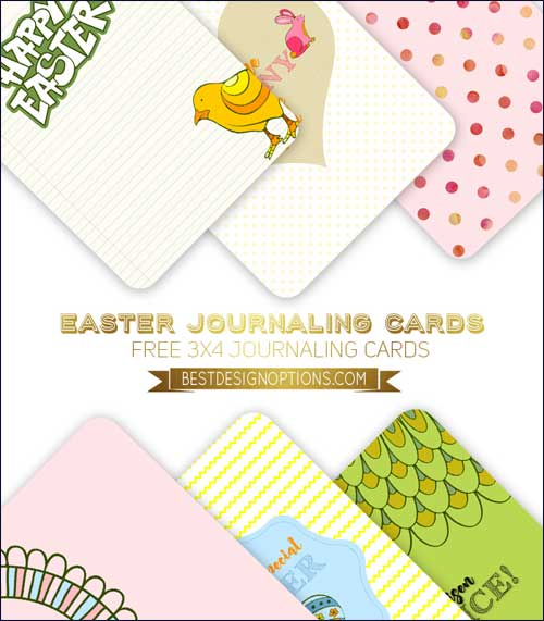 photograph about Free Printable Journaling Cards identified as Easter Card Strategies for Sbooking and Journaling