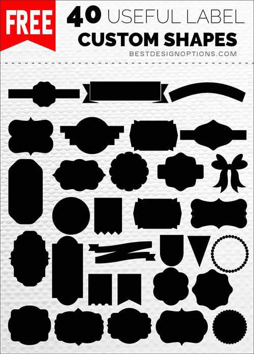 Label Templates 40 Photoshop Custom Shapes