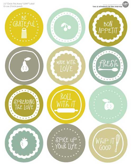 picture regarding Free Printable Mason Jar Lid Labels identified as Mason Jar Labels: 100+ No cost Printable Documents in direction of Down load