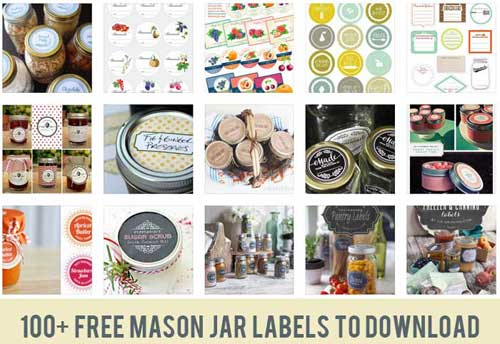 image regarding Free Printable Mason Jar Labels Including Blanks. These Are So Pretty named Mason Jar Labels: 100+ Totally free Printable Information towards Obtain